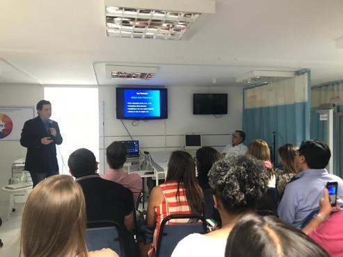 Workshop sobre contraste reuniu profissionais  da área da saúde na Ecope