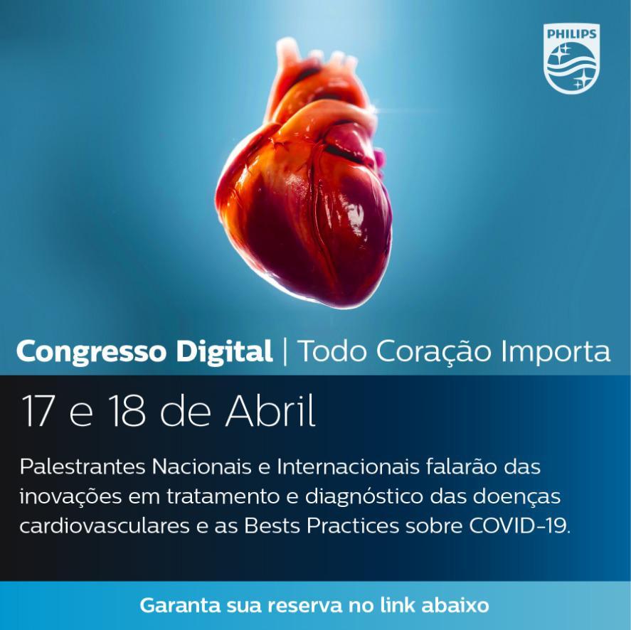 Em meio ao isolamento social, congresso online sobre doenças cardiovasculares abre inscrições